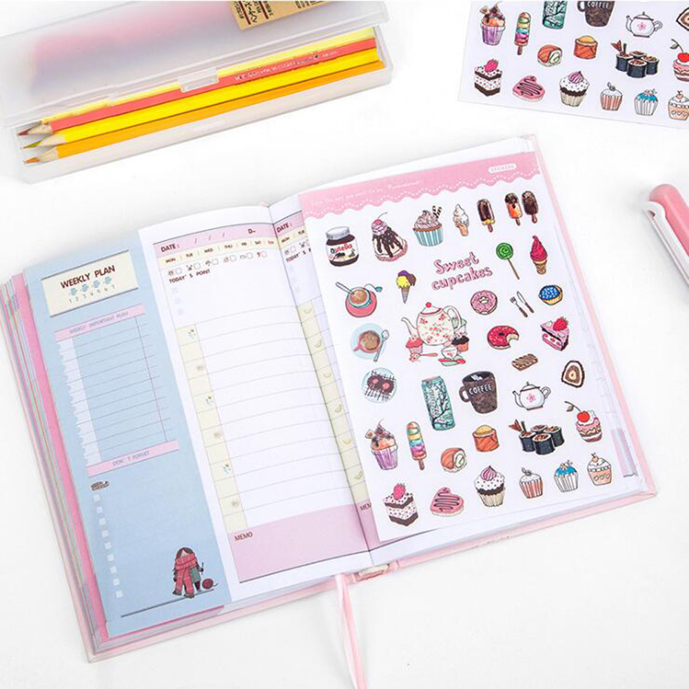 creative cute student daily plan notebook office school