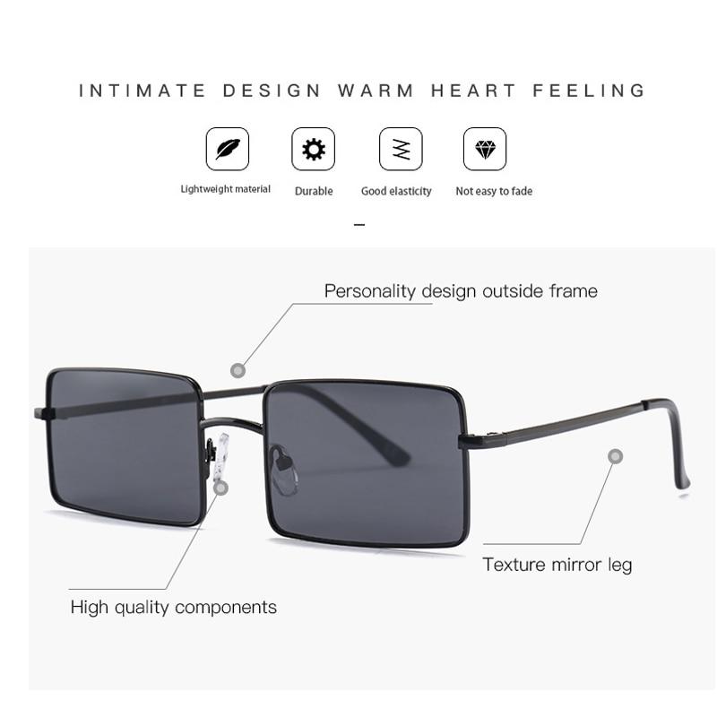 Vintage Square Sunglasses Women Men's Brand Designer Eyewear for Outdoor Ladies Sun Glasses Goggles Oculos UV400 Gafas 18928DF 4