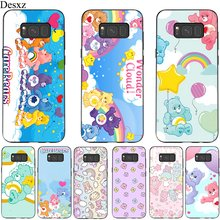 TPU Mobile Phone Case For Samsung A10 A20 A30 A40 A50 A60 A70 A7 A8 A9 A6 A5 A3 J6 Cover Candy Rainbow Cear Happy Bear Shell(China)