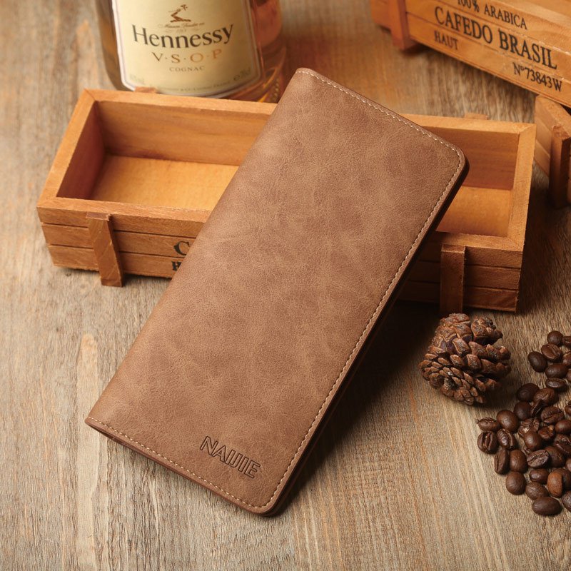 2017 New long style men wallet PU leather high quality wallets Multicolor fashion male purse card holder multi pockets wallet lorways 016 stylish check pattern long style pu leather men s wallet blue coffee