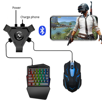 PUBG Mobile Gamepad Controller Gaming Keyboard Mouse Converter For Android ios Phone to PC Bluetooth 4.1 Adapter Plug and Play