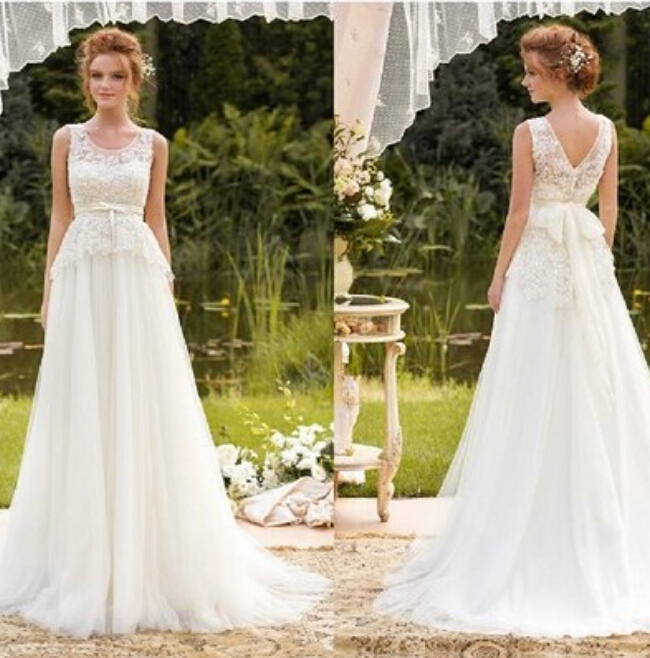 9045 2016 new arrival lace white ivory wedding dresses for brides elegant design size 2 4 6 8 10 12 14 16 18 20 22 24 26 28