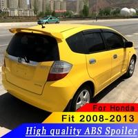 High Quality ABS Material for Honda Jazz Fit Spoiler Car Rear Wing Primer Color Rear Spoiler For Honda Fit Spoiler WX 2008 2013