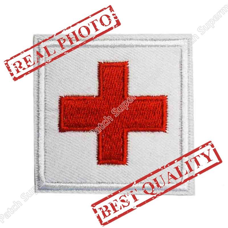 Military Medical Medic Patch di Morale Tattico Fraterna Croce Rossa cosplay Ricamato Uniforme Ferro Sul distintivo di applique Goth Punk-in Toppe da Casa e giardino su  Gruppo 1