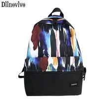 DIINOVIVO Panelled Women Backpack Travel Female Backpack Canvas Large Capacity Women backpack Schoolbag For Girls Bag WHDV1192 women high quality ring backpack college schoolbag travel backpack for teenage girls boys large capacity anello bag