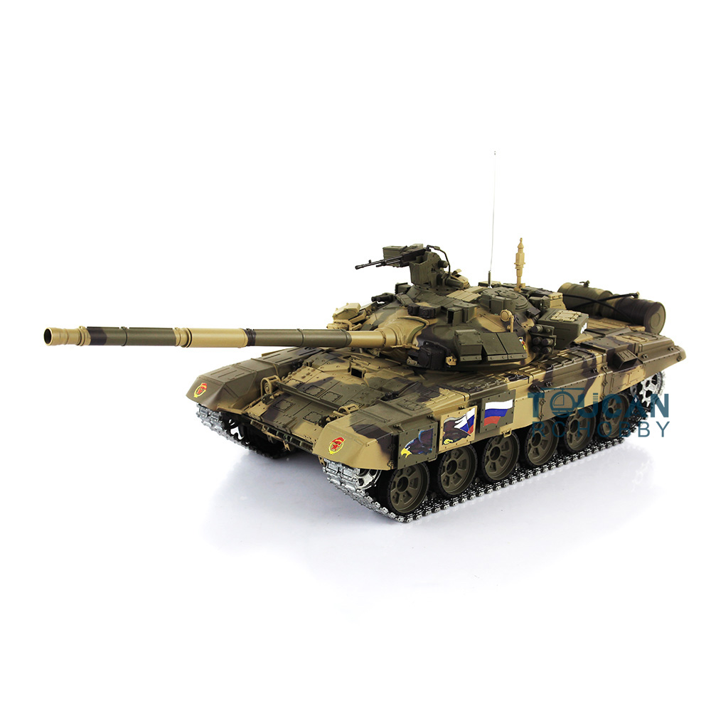 2 4Ghz Henglong 1 16 Scale Upgraded Metal Ver Russian T90 RTR RC Tank Model 3938