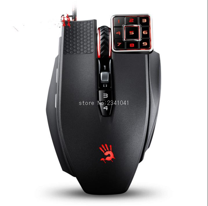 A4TECH Bloody ML16 Wired Gaming Mouse 17 buttons 8200DPI Laser Mouse for Desktop/Laptop/Notebook PC Computer