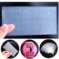 New Engineering-plastic Nail Art Stamping Template DIY Polish Print Stencil Nail Stamp Mould Manicure Nail Plates