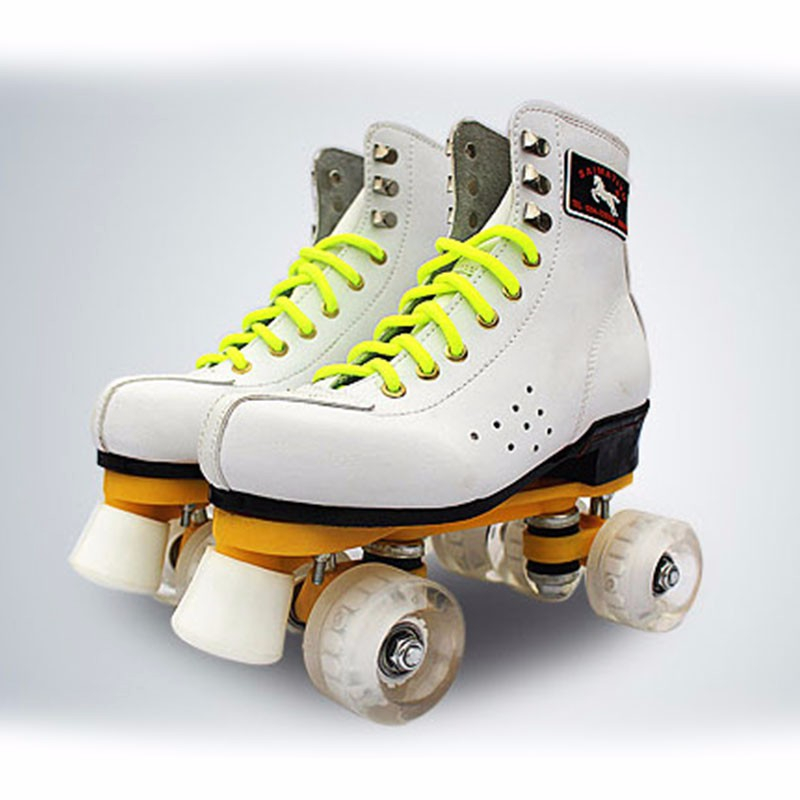 NEW Arrival Adults Quad Wheels Roller Skateswith Lace-up Boot 4 Wheels Double Two Line S ...