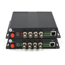 באיכות גבוהה 4 ערוצים HD SDI וידאו/אודיו/Ethernet מעל סיבים אופטי מדיה ממירי משדר מקלט עבור HD SDI טלוויזיה במעגל סגור