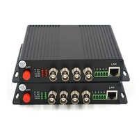 High Quality 4 Channels HD SDI Video/Audio/Ethernet over Fiber Optic Media Converters Transmitter Receiver for HD SDI CCTV