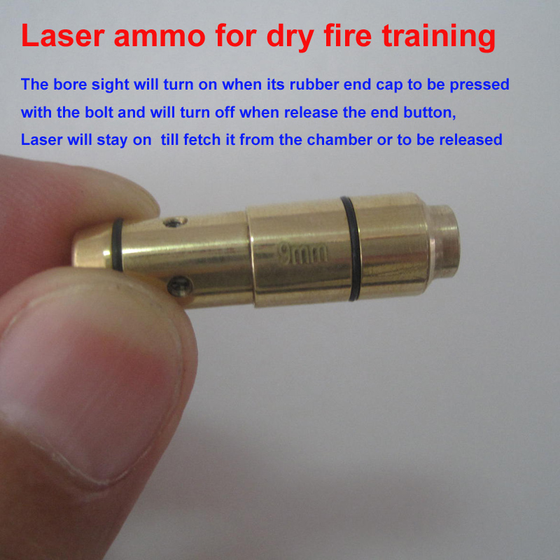 9MM laser ammo laser bullet laser trainer pistol laser cartridge for dry fire training-in Lasers from Sports & Entertainment
