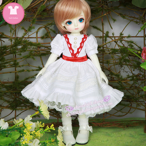 Image 4 - BJD SD בגדי בובת 1/6 נסיכת שמלת צעצוע עבור Linachouchou מלאכי מליסה YF6 182 בובת אבזרים