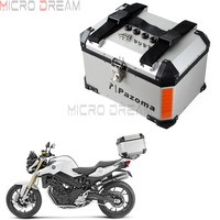 Universal Motorcycles Lock Topcase Cargo Luggage 45L Aluminum Tail Box Case Street Bike Rear Storage Top Box For Kawasaki Honda