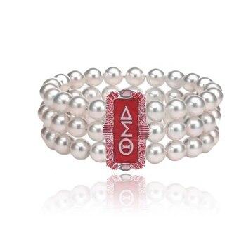 8202e61edeb4 AEO Sorority griego handmake joyería honestidad Delta Sigma Theta perla  declaración de múltiples capas pulsera de perlas