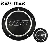 Motorcycle 103 Derby Clutch Timing Timer Cover Black&Chrome For Harley Dyna Touring Road King Softail Deluxe 1996 2013