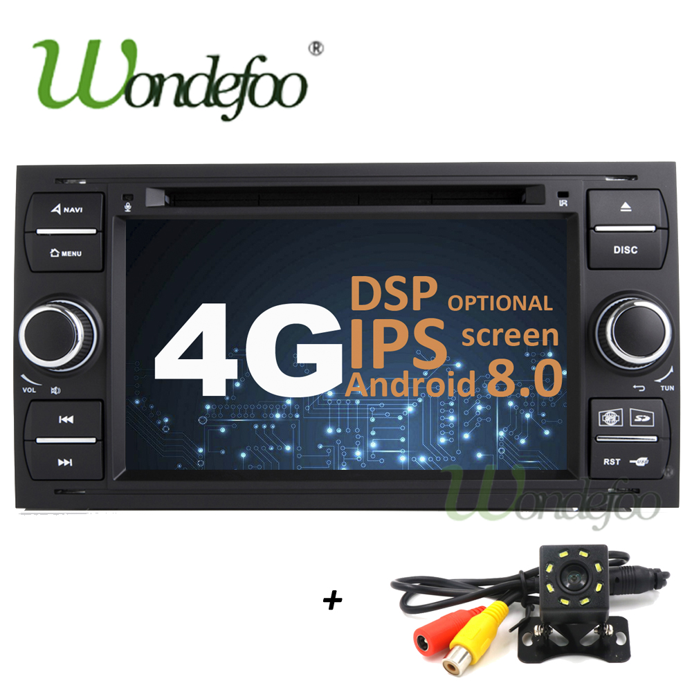 IPS Android 8.0 4G/Android 7.1 2 din Car DVD PLAYER For Ford Mondeo S-max Focus C-MAX Galaxy Fiesta Form Fusion GPS receiver DSP