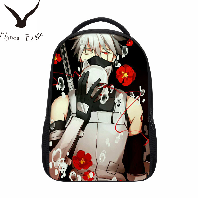 Hynes Eagle Brand Design Naruto Backpack Japan Anime Printing School Bag For Teenagers 3D Cartoon Travel Rucksack Nylon Mochila japan anime cardcaptor sakura backpack school bag shoulder bag printing pink backpack