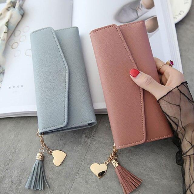2019 Mulheres Da Moda Carteiras Simples Bolsas Zipper Preto Branco Cinza Vermelho Longa Seção de Embreagem Carteira de Couro Macio PU Bolsa de Dinheiro