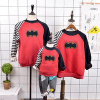 Family clothing family look matching mother daughter clothes father son outfits batman cashmere hoodies family matching clothes
