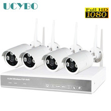 Plug and Play 4CH 1080P IP Camera NVR Wifi CCTV System 4PCS 1080P IR Outdoor waterproof Wireless Security Video Surveillance Kit