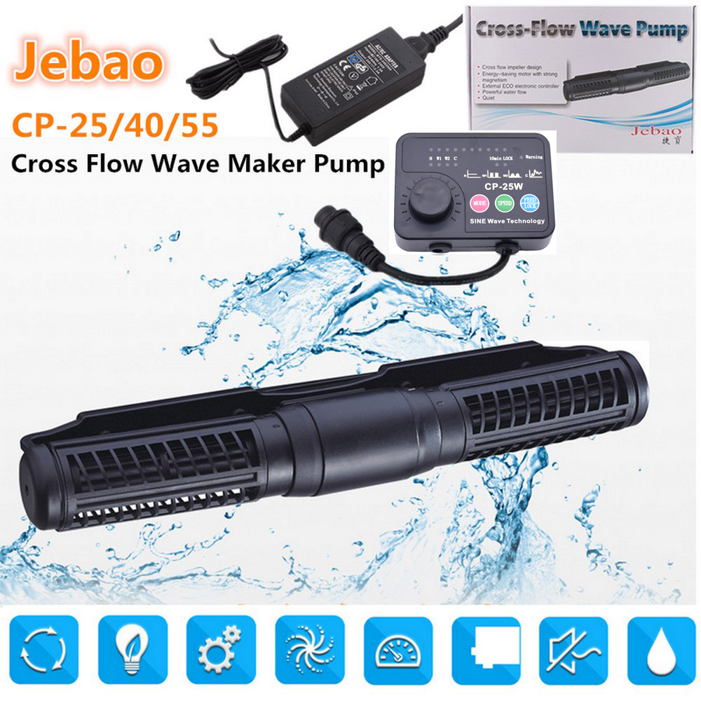 110-240V Cross Flow Aquarium Pump Wave Pump 5 Flow Model CP-55 For Fish Tank Wireless Master Slave Pump Control Wave Maker