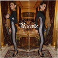 Free Shipping 2017 New Chic Striped Hollow Embellished Long Sleeves Women Celebrity Party Bodysuit Wholesale Bandage Jumpsuit