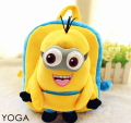 Candice guo plush toy stuffed doll schoolbag cartoon Despicable Me 3D eye Minions backpack Satchel children shoulder bag package