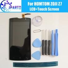 Homtom zoji Z7 lcd ディスプレイ + タッチスクリーン、 100% オリジナルのテスト液晶スクリーンデジタイザガラスパネルの交換 homtom zoji Z7