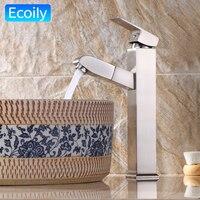 Yüksek Moda Modern Lavabo ve Havza Dokunun Pirinç Havzası Banyo için Musluk Sıcak ve Soğuk Su Hortumları Genişletilebilir grifo lavabo