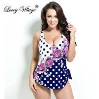 Lovey Village Women S Retro Vintage Pin Up One Piece Swimsuit Bathing Suit Floral Plus Size