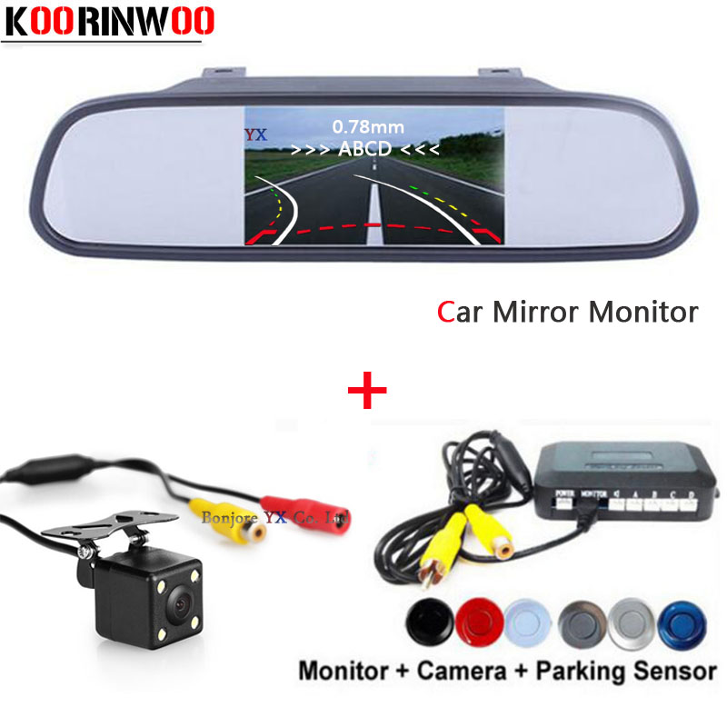 New Movable Parking Guide car Rear view camera Car Parking Sensors Reversing Radars Car Mirror Monitor