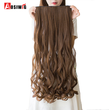 hot deal buy aosiwig 24 inch long wavy clip in synthetic hair extensions 5 clips one piece 14 colors available heat resistant fiber