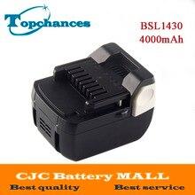 Высокое качество замена 14,4 В 4000 мАч литий-ионный Батарея для Hitachi DH 14DSL, 329083, 329877, 329901, BSL1415, BSL1430
