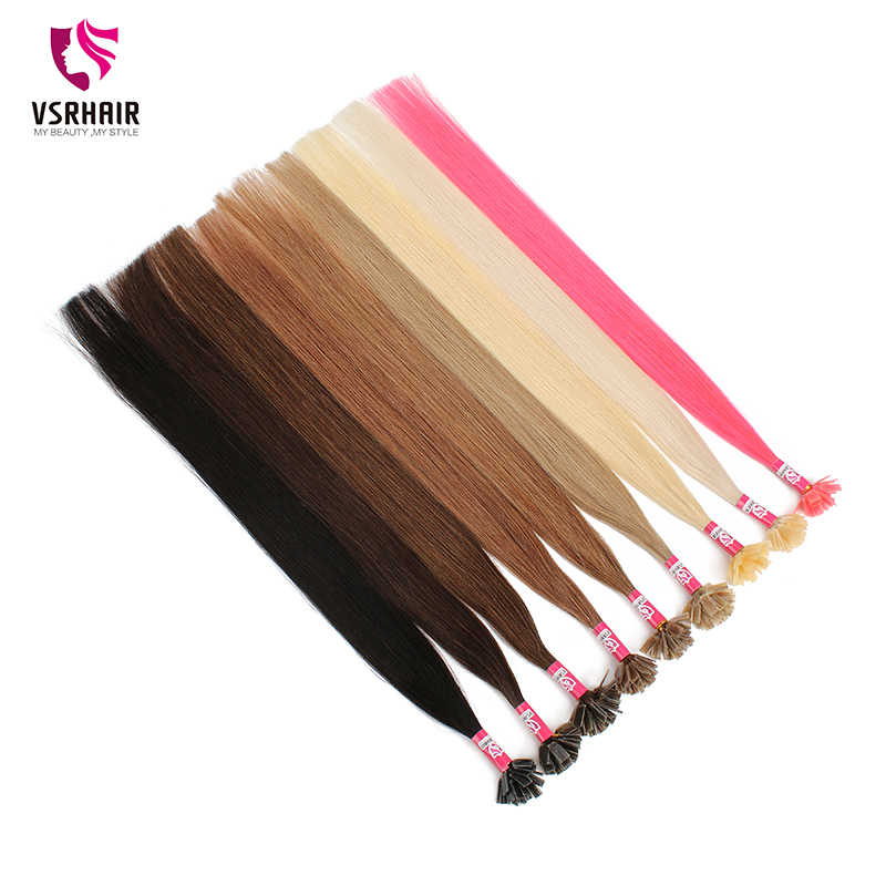 VSR 100% человеческие трессы толщина днище fusion волос для салона особенно Кератин наращивание волос