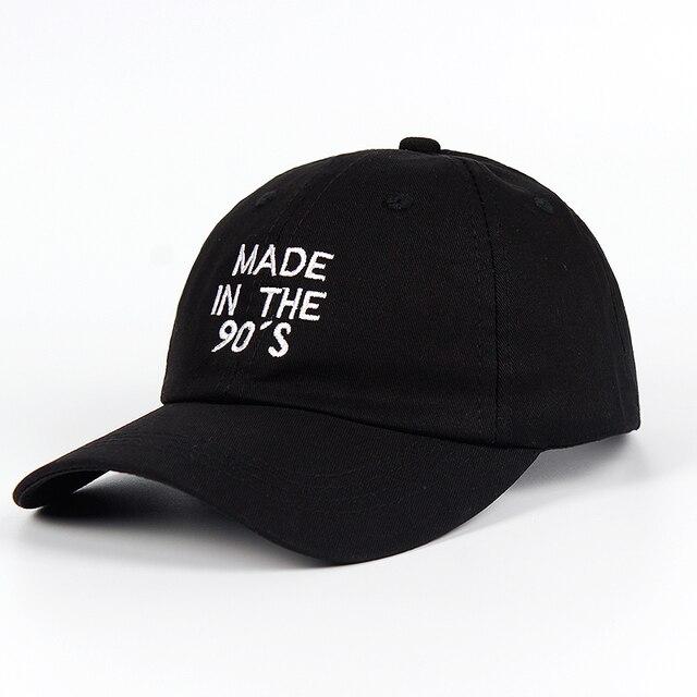 Dibuat Di Tahun 90-An Bordir Ayah Hat 100% Katun Wanita Pria Fashion Bisbol 8c41275678