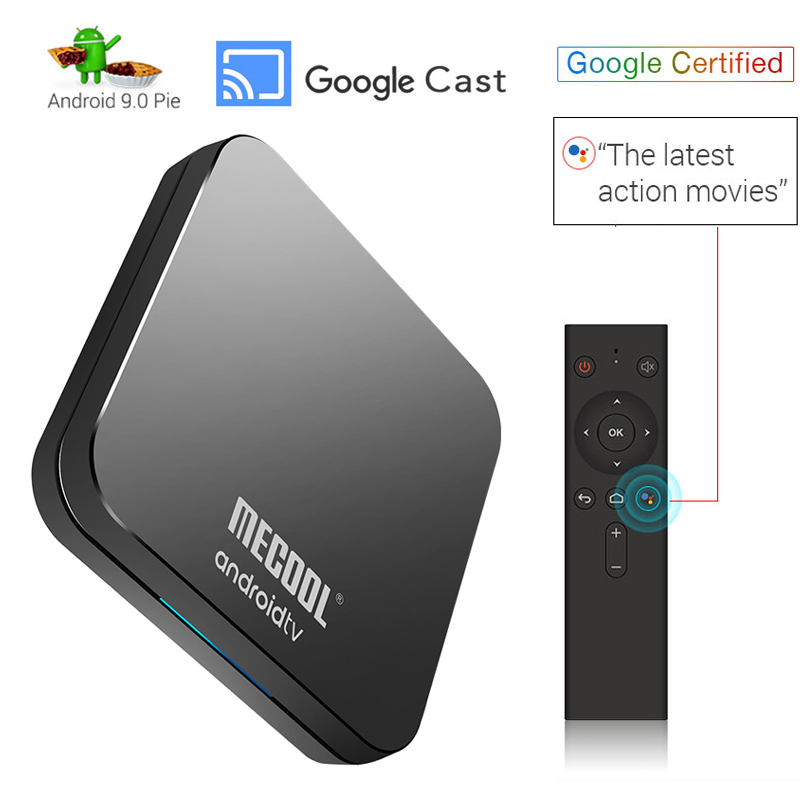 Mecool KM9 Pro ATV Google Certified Android 9 0 pie TV Box with Voice  Remote Amlogic S905X2 4GB LPDDR4 32GB Bluetooth Wifi Boxes