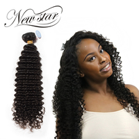 NEW STAR 10 34 Deep Curl Brazilian Virgin Human Hair Extension Curly Weave Cuticle Aligned Double Weft Bundles Salon Supply