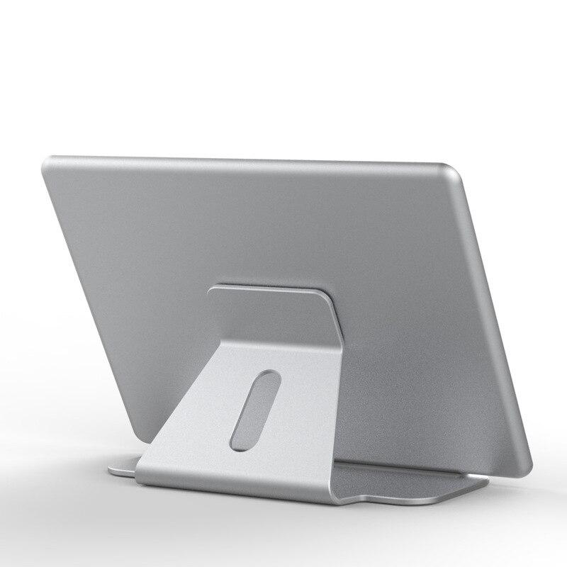 Aluminium Tablet Pc Ständer Halter Für Ipad Pro Ipad Neue 2018 Air 2 Mini 4 Oberfläche Pro 4 3 Docking Station Cradle Anti-skid Silber