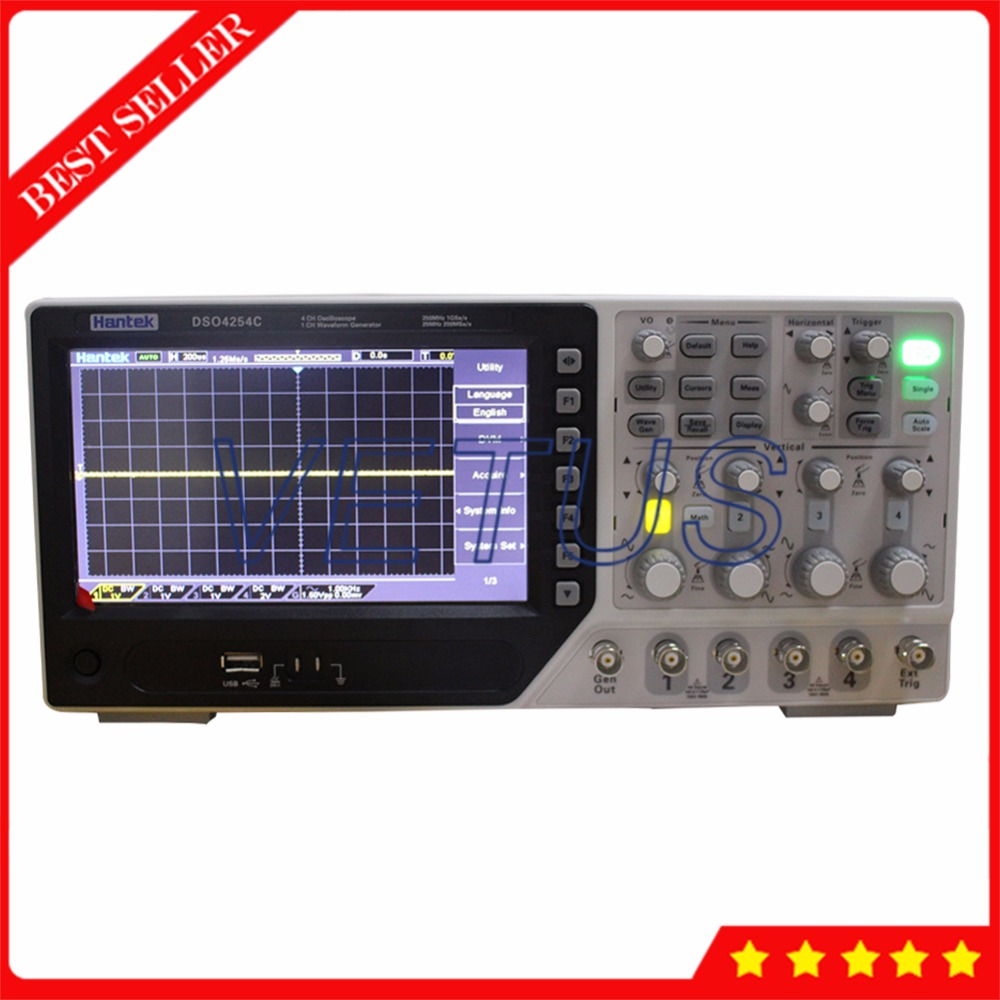 Digital Osciloscopio Hantek DSO4254C Portable 4 Channel Oscilloscope with Arbitrary Waveform Function Generator EXT DVM function ballu plaza ext bep ext 1500 1500