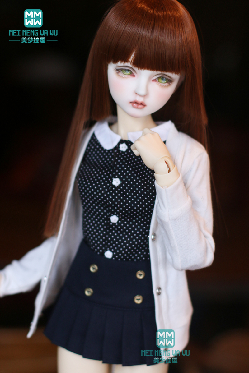 <font><b>BJD</b></font> doll <font><b>clothes</b></font> fits <font><b>1/3</b></font> 1/4 1/6 <font><b>bjd</b></font> doll fashion feel free to match knit cardigan image