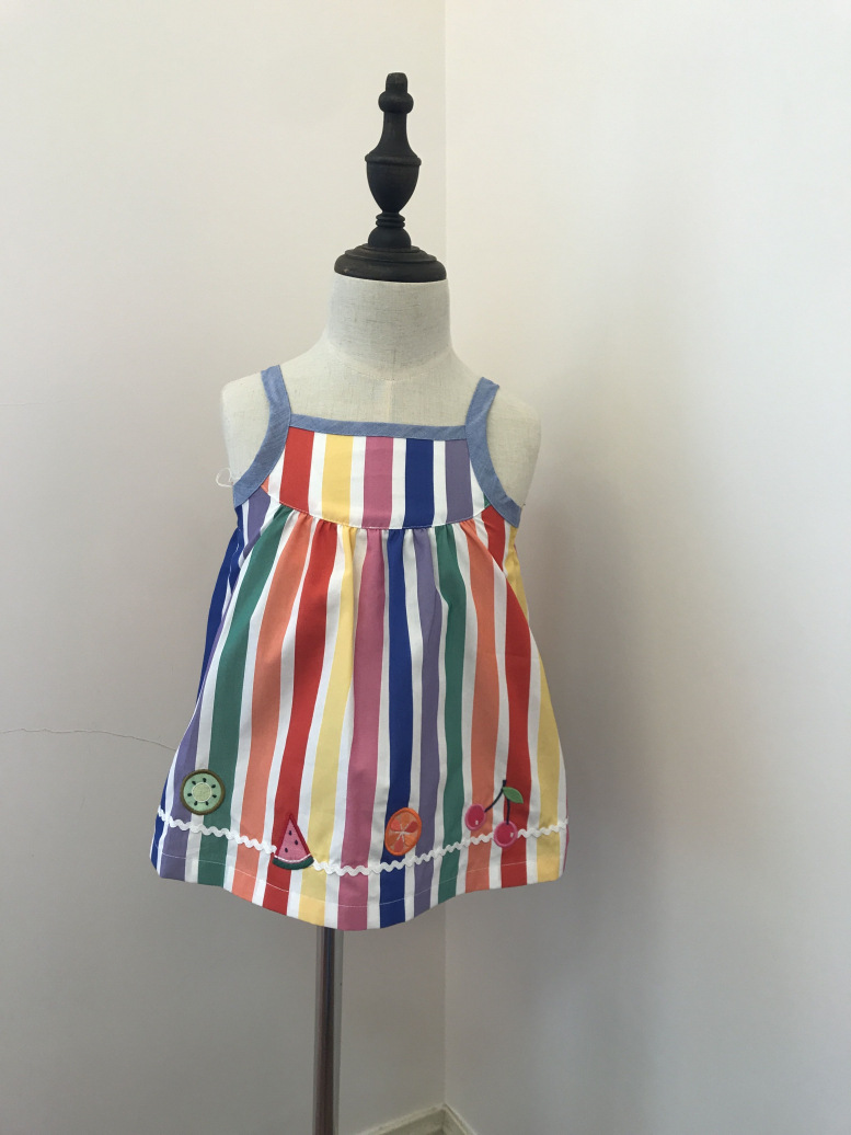 baby dress rainbow striped candy colour toddler baby girls dresses embroidered watermelon cherry cute infant mini dressbaby dress rainbow striped candy colour toddler baby girls dresses embroidered watermelon cherry cute infant mini dress