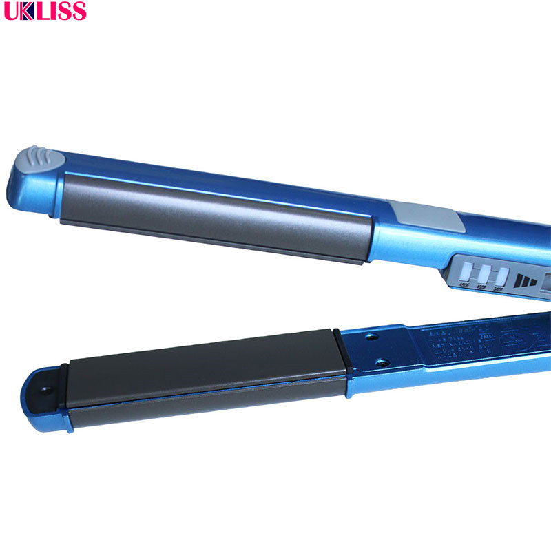 shipping Electronic beauty Styling Tool blue 11/4 nano titanium 450F temperature Nano Titanium fast hair straightener