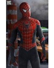 Raimi 子供/カスタム クモハイブリッドスーツスパンデックスハロウィンスパイダーマン衣装大人/ 最新のスパイダーマン衣装から遠ホーム