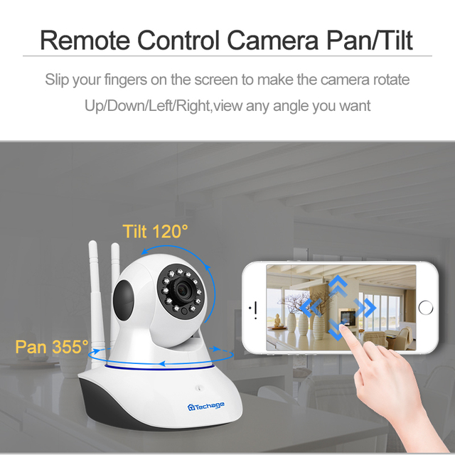 Techage 1080P 720P Wireless IP Camera Night Vision Baby Monitor Home Security 2MP 2-Way Audio Record CCTV Wifi Camera Yoosee APP 2