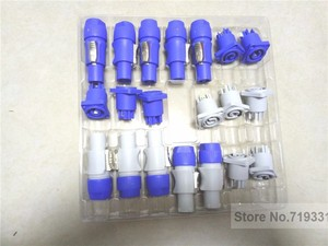 Image 4 - 10sets =5sets blue+5sets gray PowerCON Type A NAC3FCA+NAC3MPA 1 Chassis Plug Panel Connector