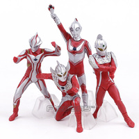 Ultraman Jack Taro Seven Mebius PVC Figures Kids Boys Toys Christmas Birthday Gifts 4pcs Set 7