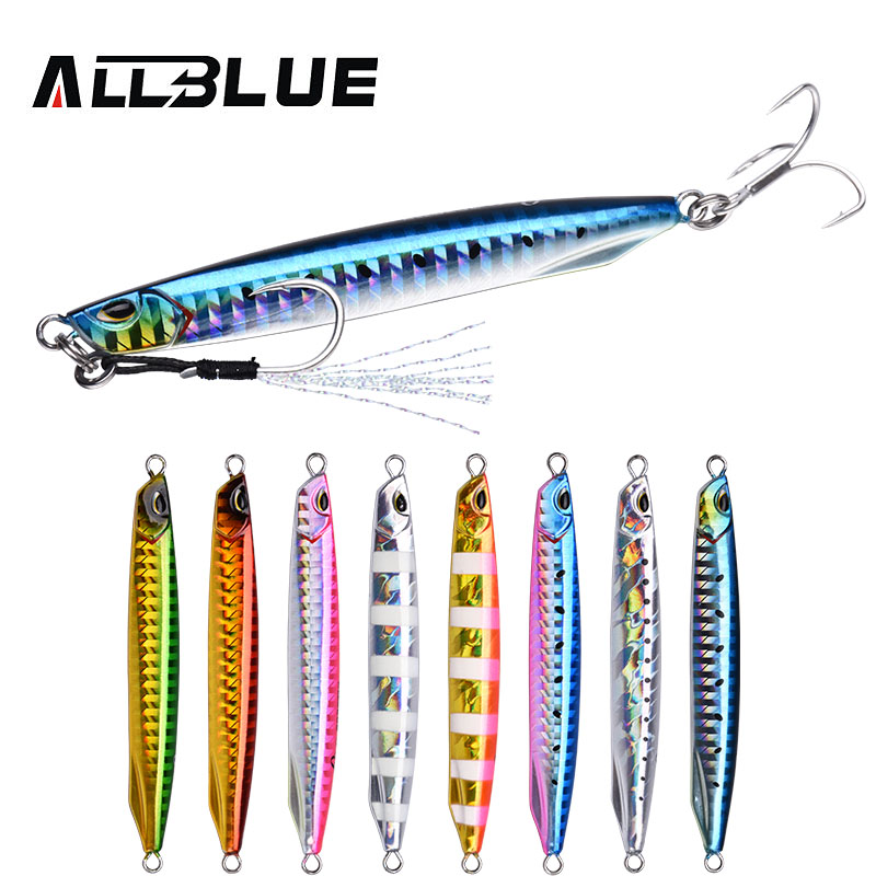 ALLBLUE DRAGER Super Slim SSZ Metal Casting Jig 20G 30G Shore Drag Cast Jigging Spoon Zinc Fishing Lure Artificial Bait Tackle