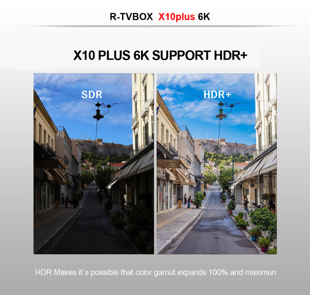 X10 Plus Android 9.0 Smart TV Box Allwinner H6 Quad Core 4GB RAM 64GB ROM USB3.0 WIFI H.265 HDR 6K résolution décodeur