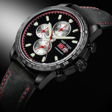 цена Reef Tiger/RT Sport Watch for Men Chronograph Quartz Watches with Date Steel Watch with Luminous  Markers RGA3029 онлайн в 2017 году